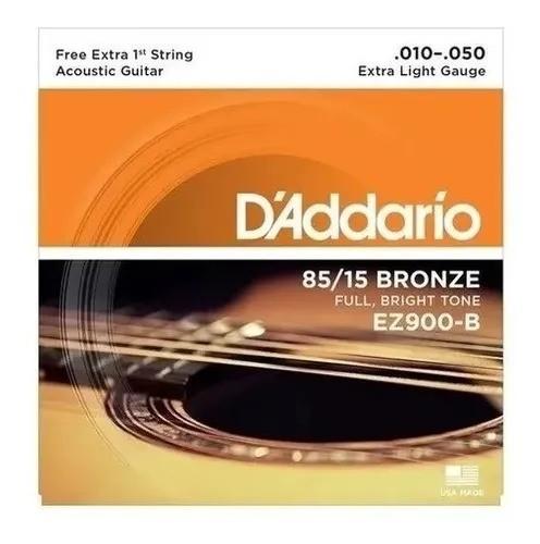 Encordoamento Daddario Violão Aço Ez900-b+pl010 D'addario