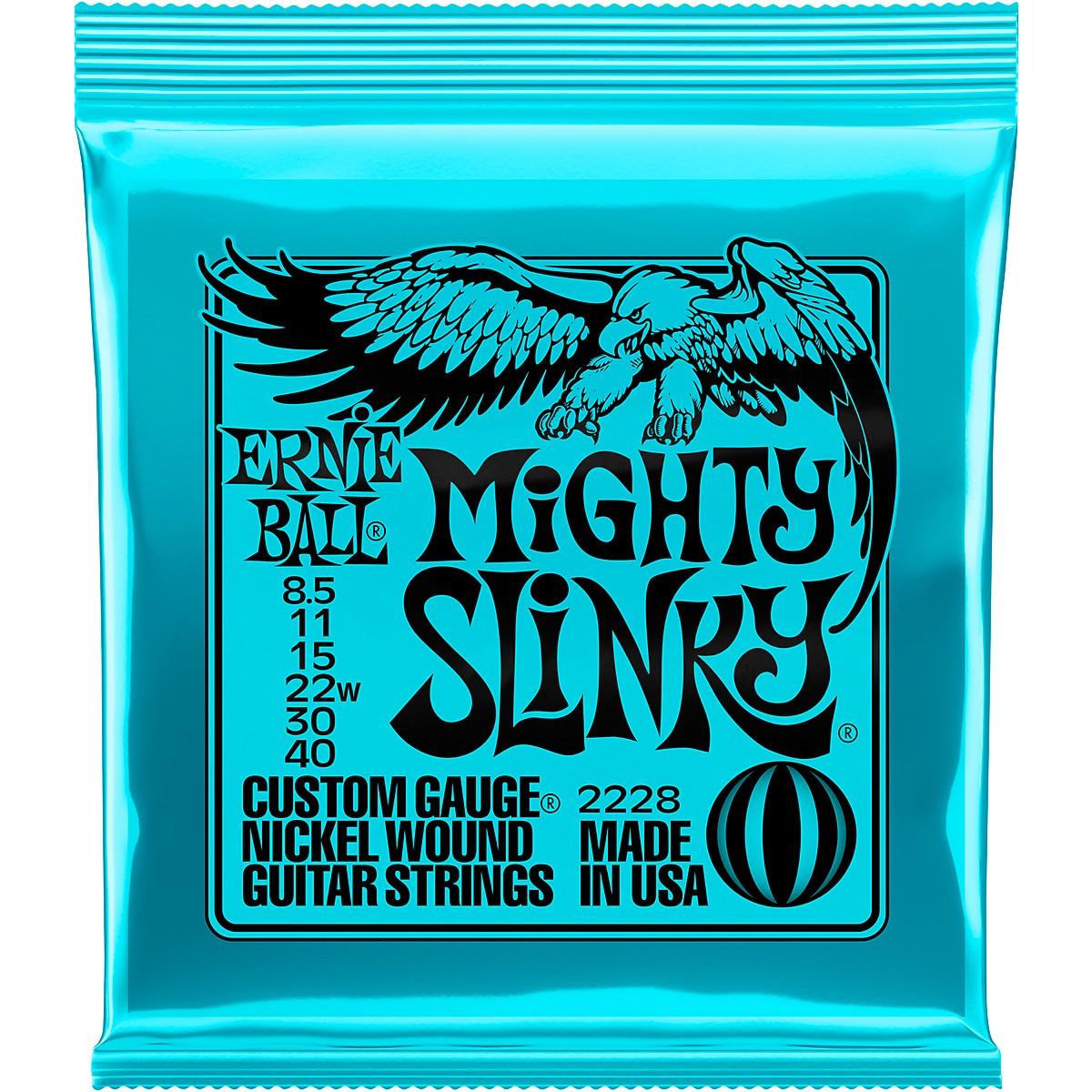 Encordoamento Ernie Ball Guitarra  8.5-40 Mighty Slinky 2228