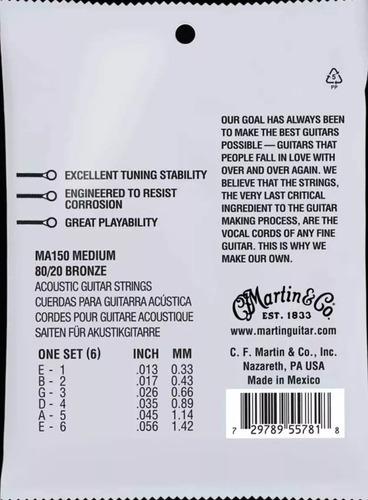 Encordoamento Martin 013 Violão Aço Bronze 80/20 Nf-e