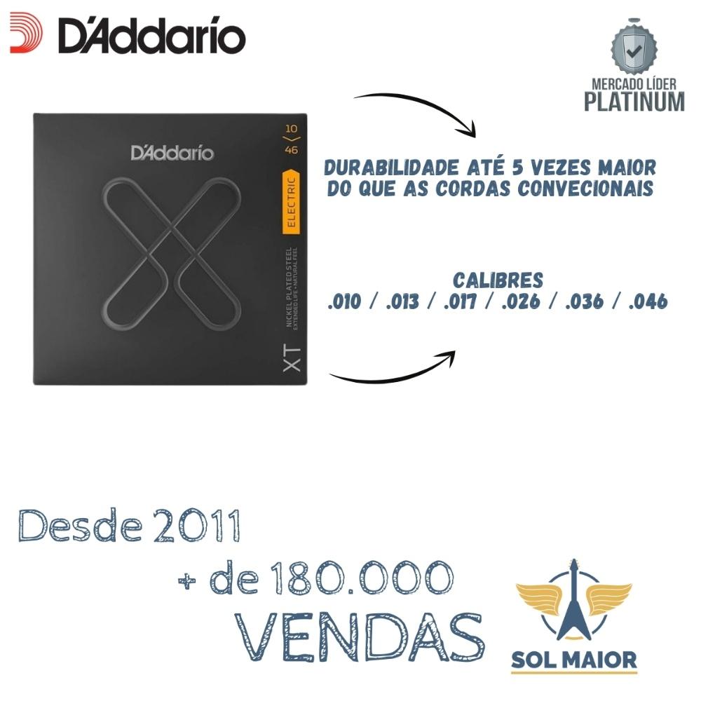 Encordoamento Para Guitarra Daddario 010 Xte1046