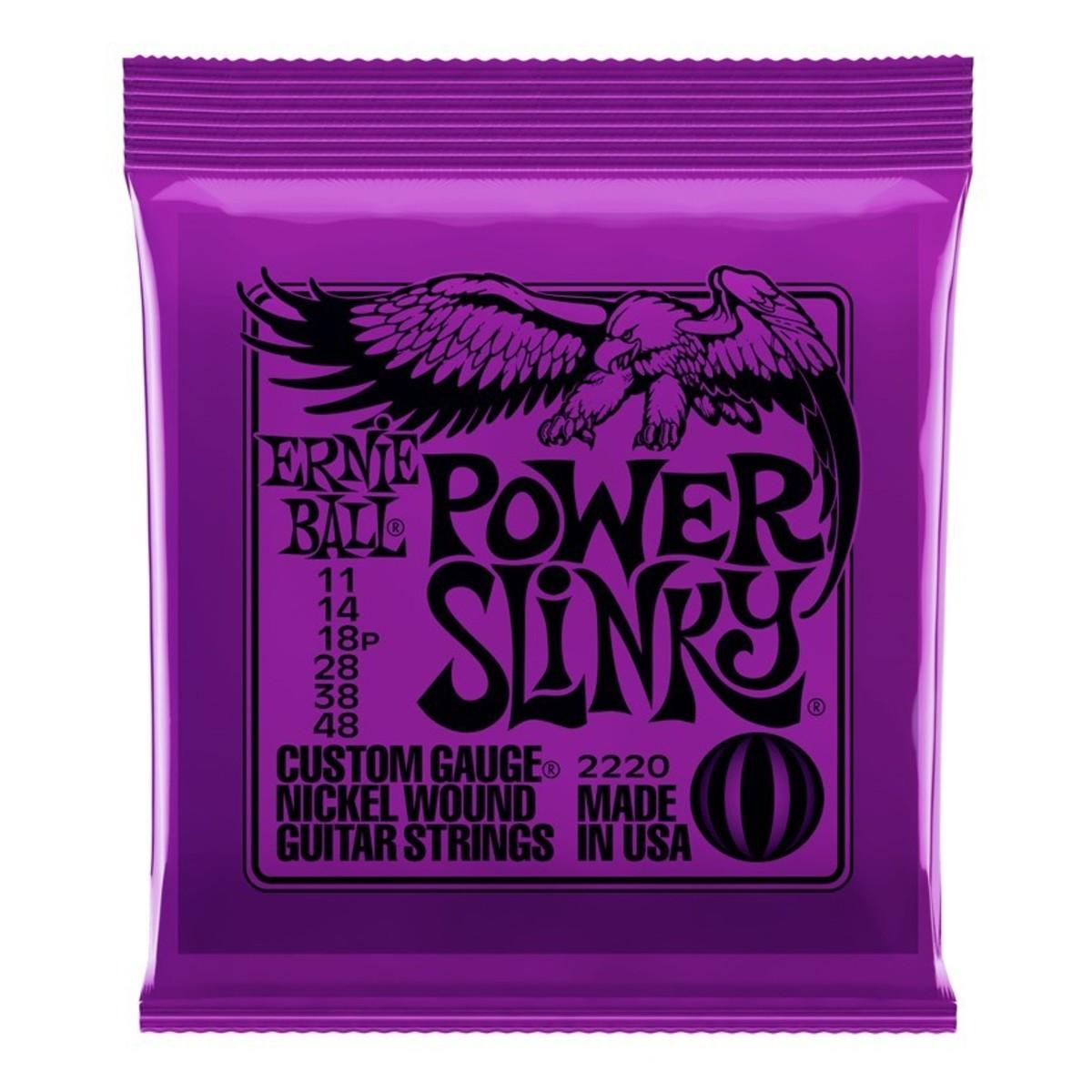 Encordoamento Para Guitarra Ernie Ball Power Slinky 011 2220