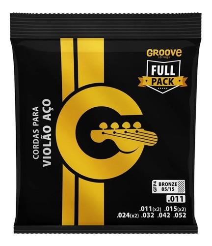 Encordoamento Violão Aço Groove 011 Full Pack Gfp4 - Solez