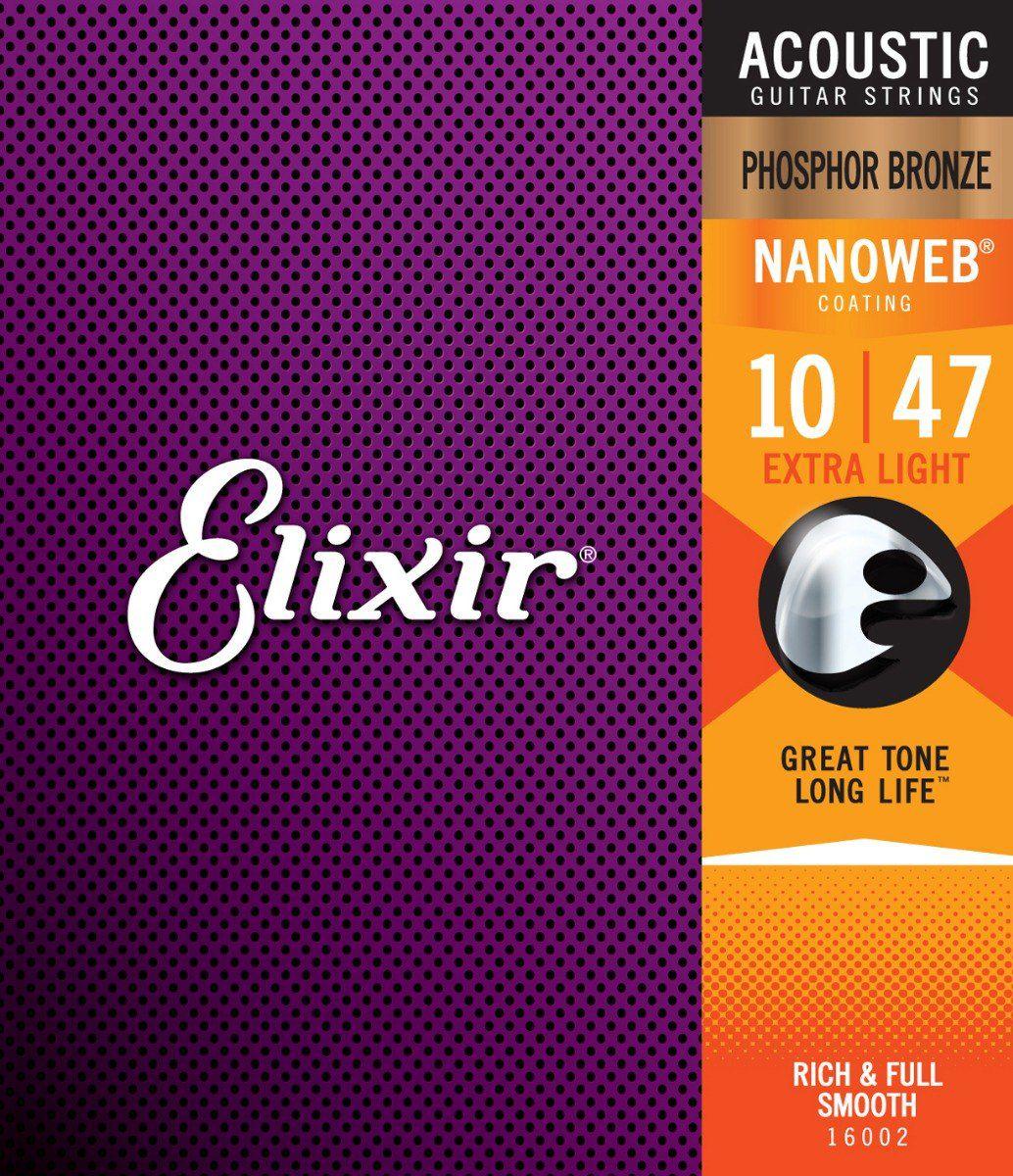 Encordoamento Violão Elixir Phosphor Bronze 010 - 16002