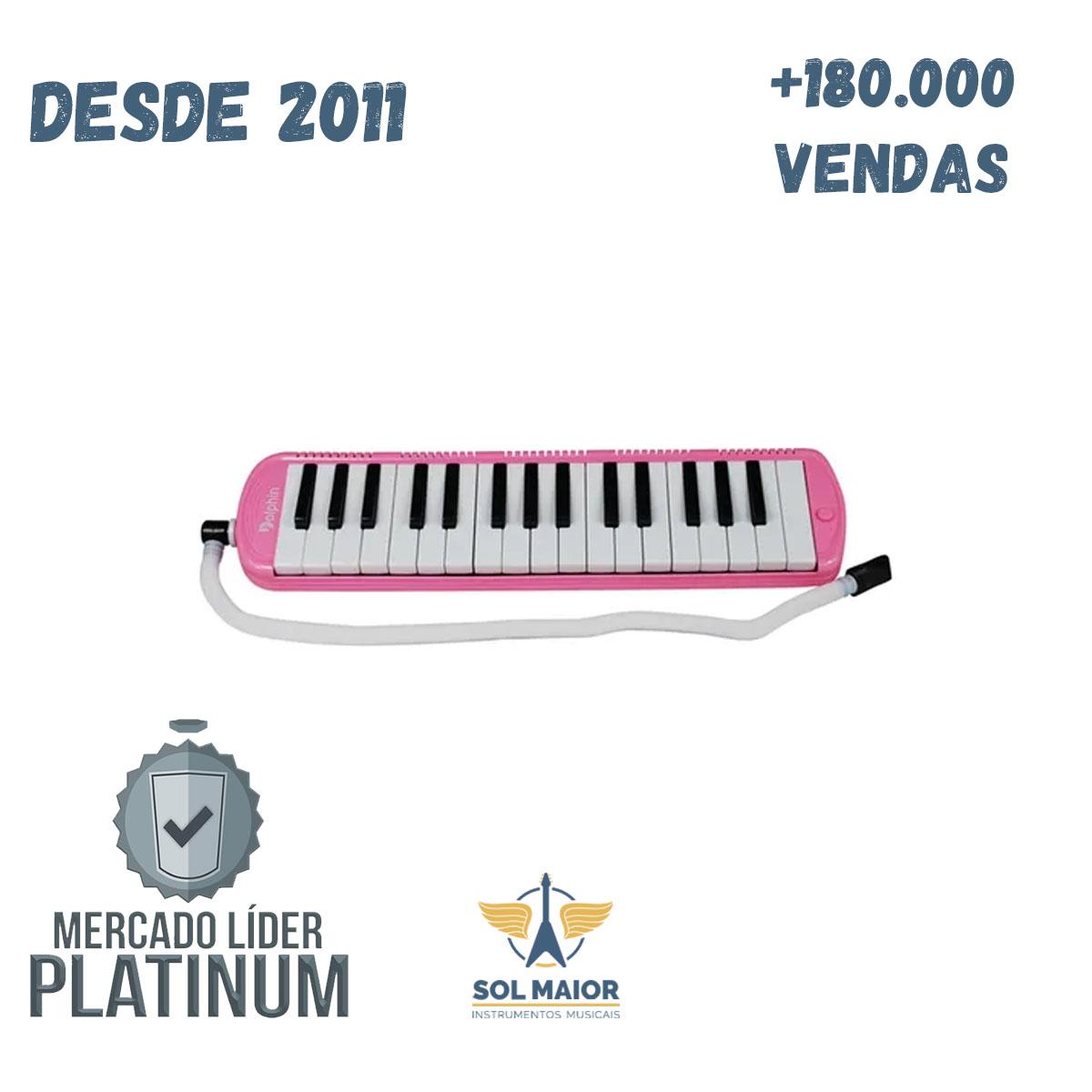 Escaleta 32 Teclas C/Case Pink DOLPHIN 9698
