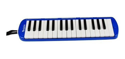 Escaleta Dolphin 32 Teclas C/ Case Azul E Acessórios - 6409