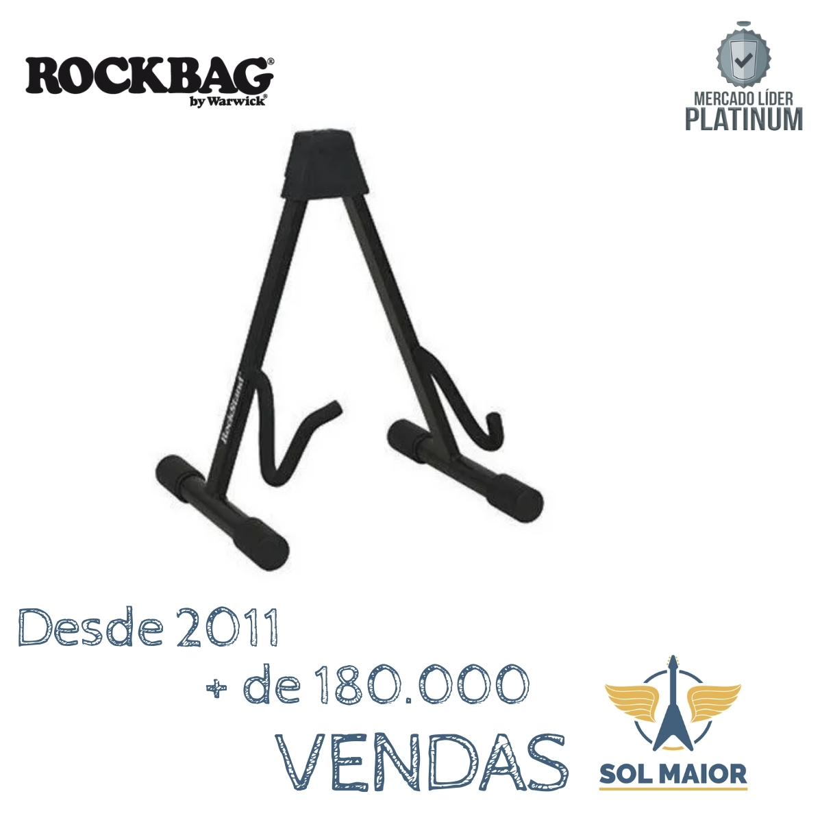 Estante Para Guitarra Rockbag Rs 20810 B/1 Preta