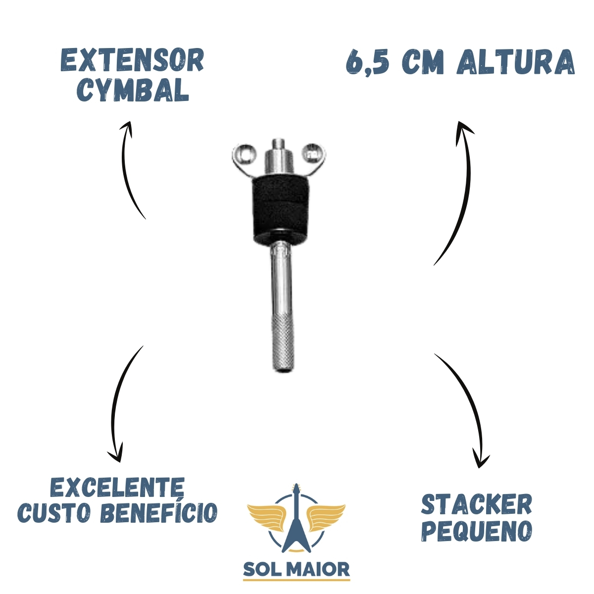 Extensor Cymbal Stacker Pequeno Ext 01 Liverpool Hit Hat Promoçao