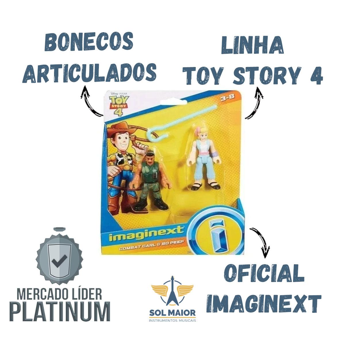 Figuras Imaginext Toy Story 4 Combat Carl E Betty - Mattel