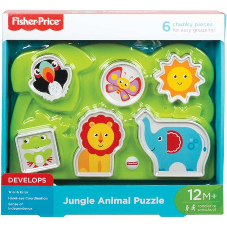 Fisher Price Brinquedo Baby Quebra Cabeça dos Animais GFR53