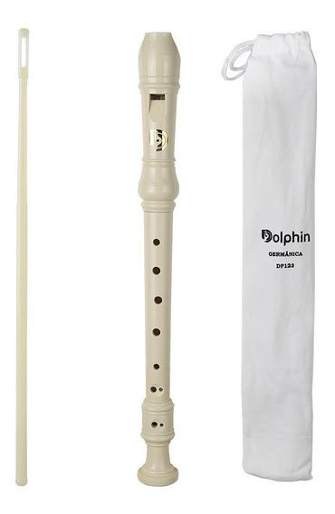 Flauta Doce Germanica Soprano Do Abs Dolphin 7749