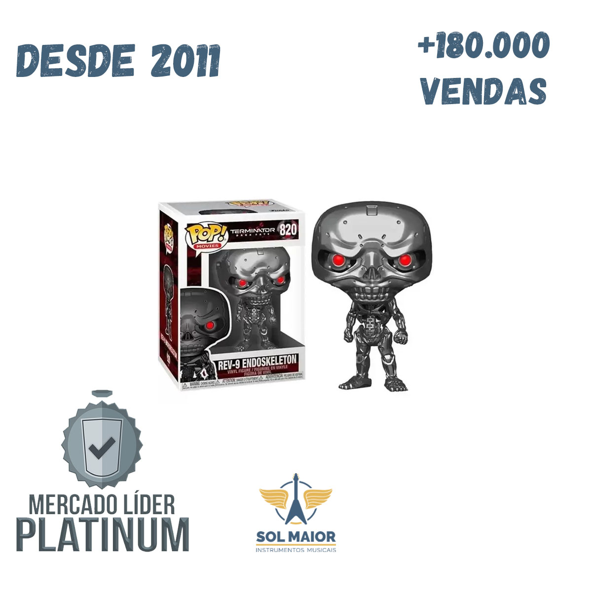 Funko Pop Terminator Dark Fate Rev-9 Endoskeleton 820