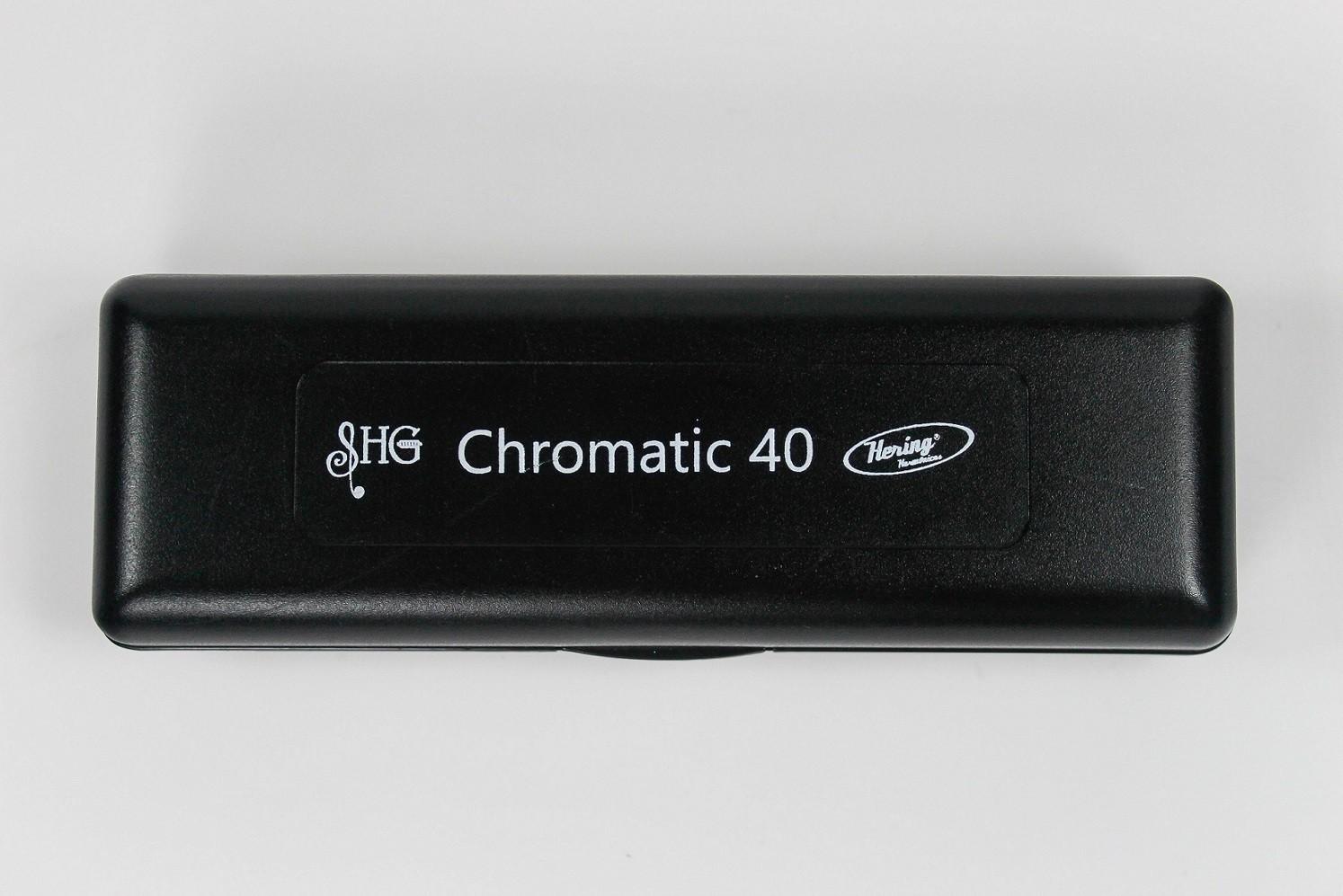 Gaita De Boca Harmônica Hering Chromatic 40 Em C (dó) 5140c