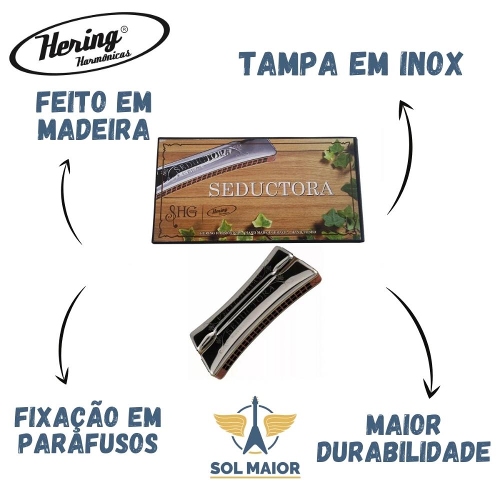 Gaita De Boca Hering Seductora 7980cg Dó/sol Harmônica