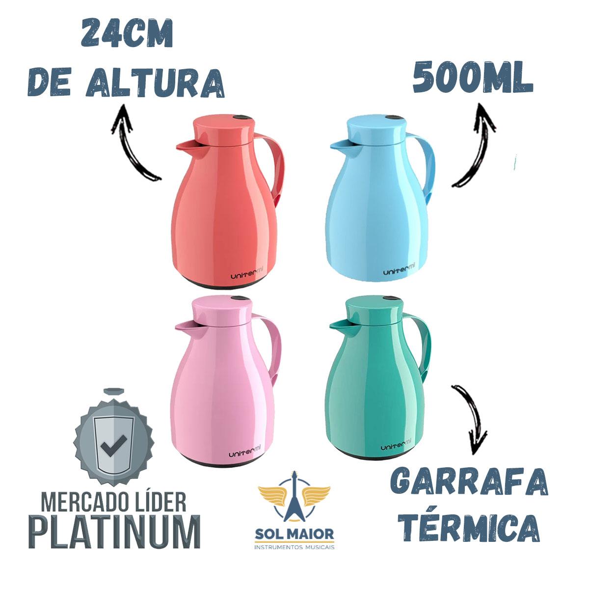 Garrafa Térmica Com Gatilho Paris Chá / Café 500ml Unitermi