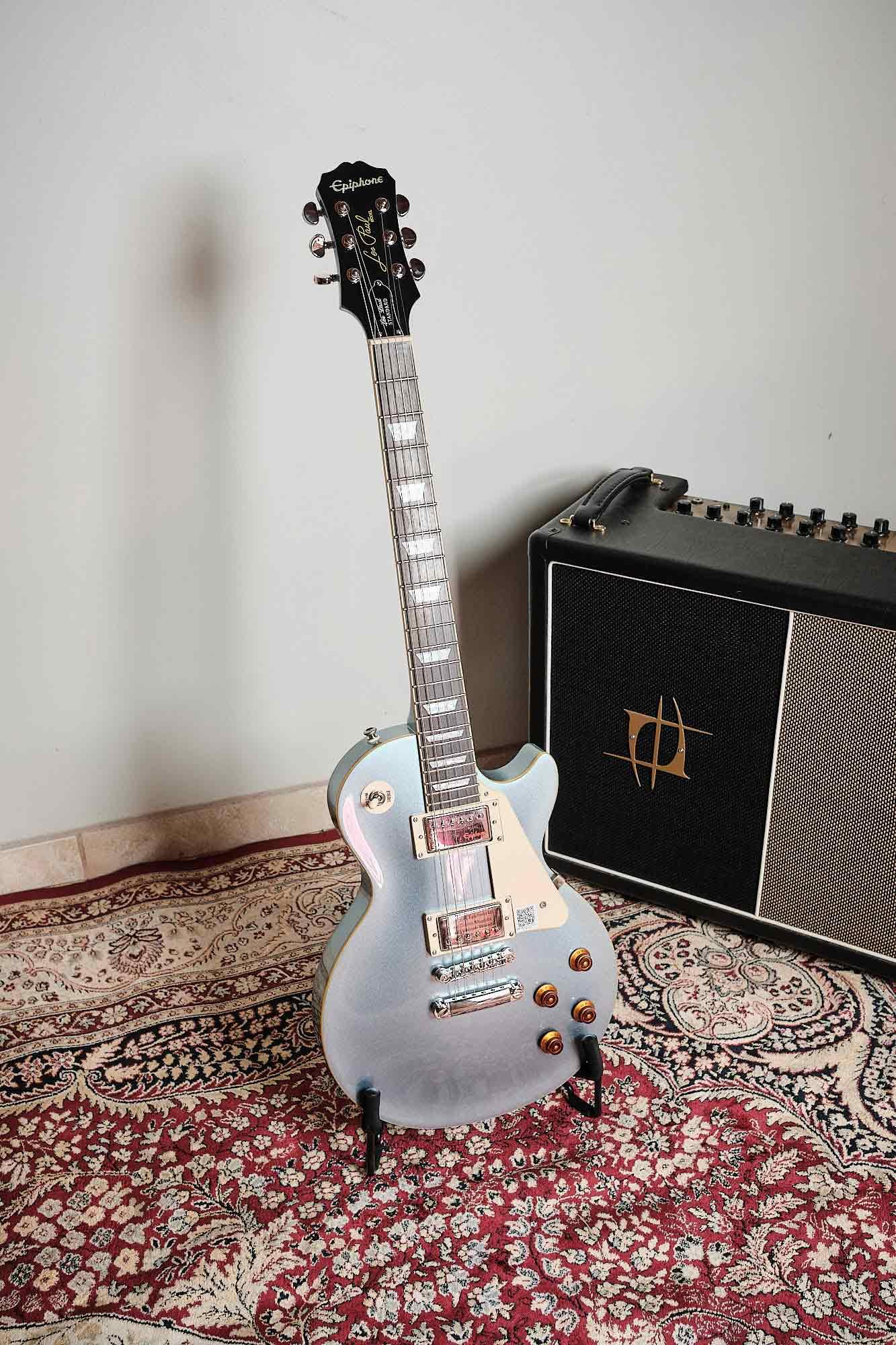 Guitarra EpiPhone Les Paul Standard Pelham Blue