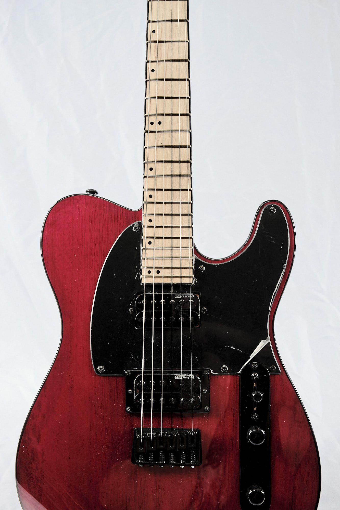 Guitarra Esp Ltd Te200m Telecaster Hh Mogno Maple Red Cherry