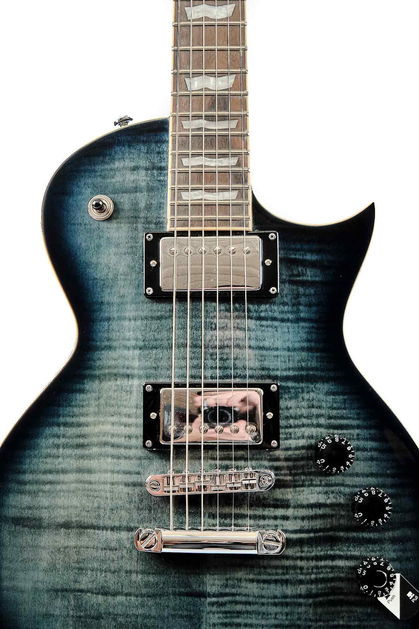 Guitarra Les Paul Ltd Lec 256 Fm Cobalt Blue