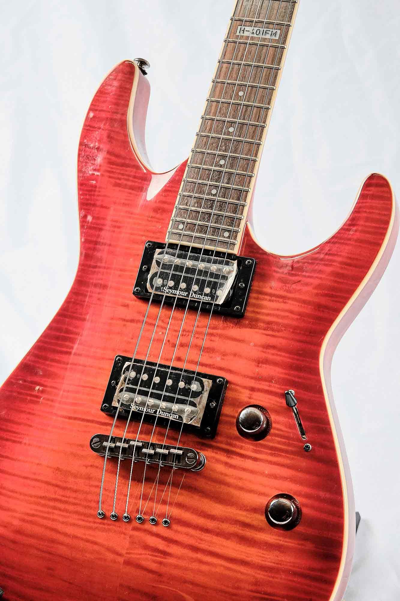 Guitarra Ltd By Esp H 401 Fm Acsb Cherry