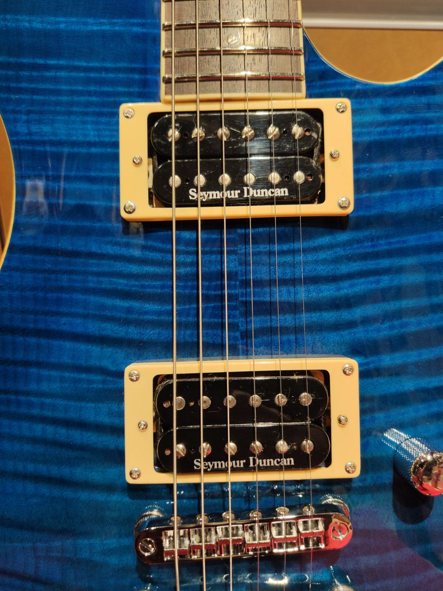 Guitarra Ltd By Esp Pb 401 Fm Stb Azul