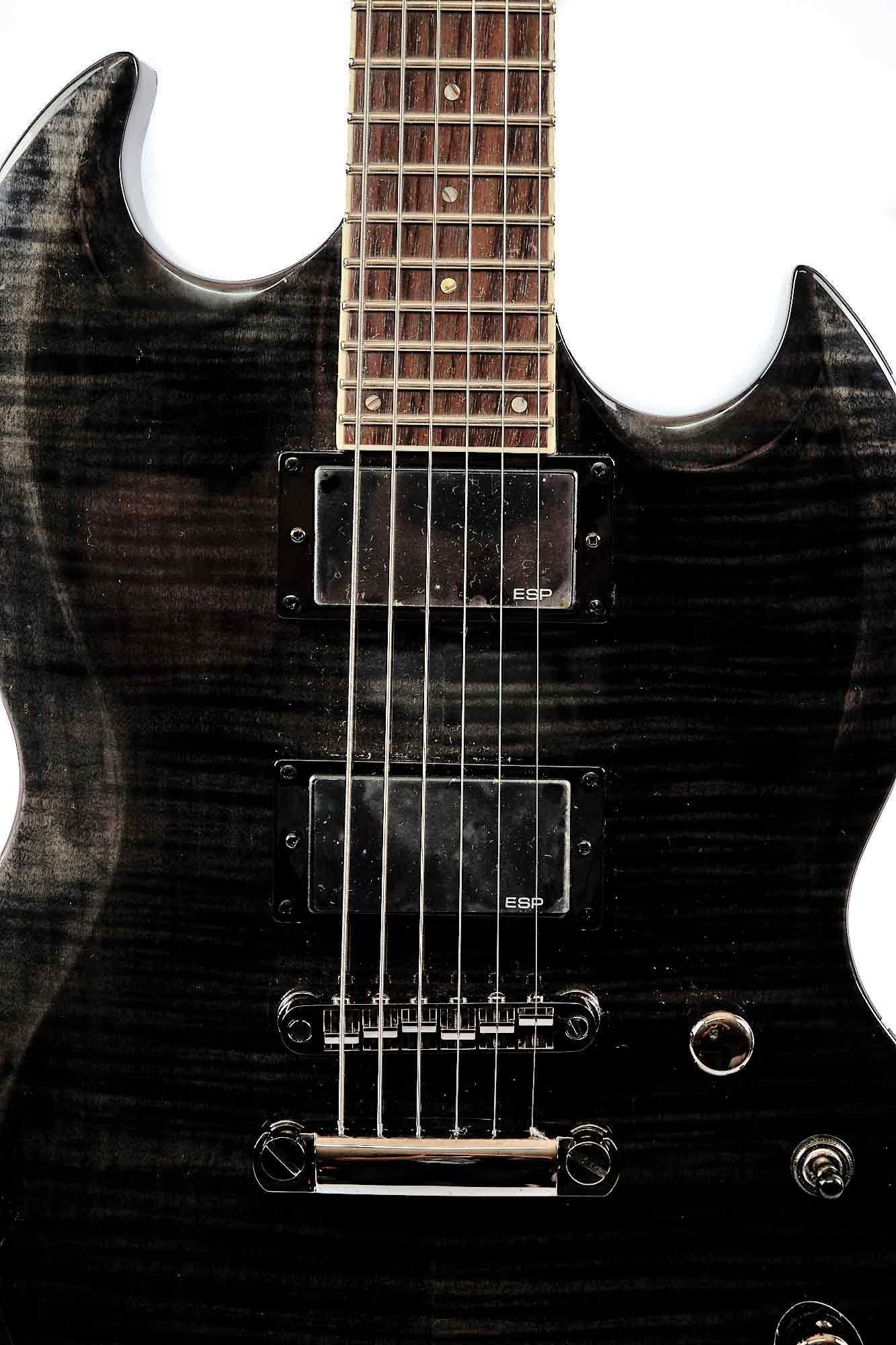 Guitarra Sg Ltd By Esp Viper 200 Fm See Thru Black