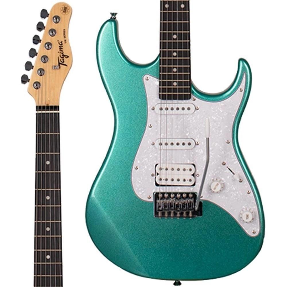 Guitarra Tagima Tg520 Woodstock Stratocaster Tg-520 Metallic Surf Green