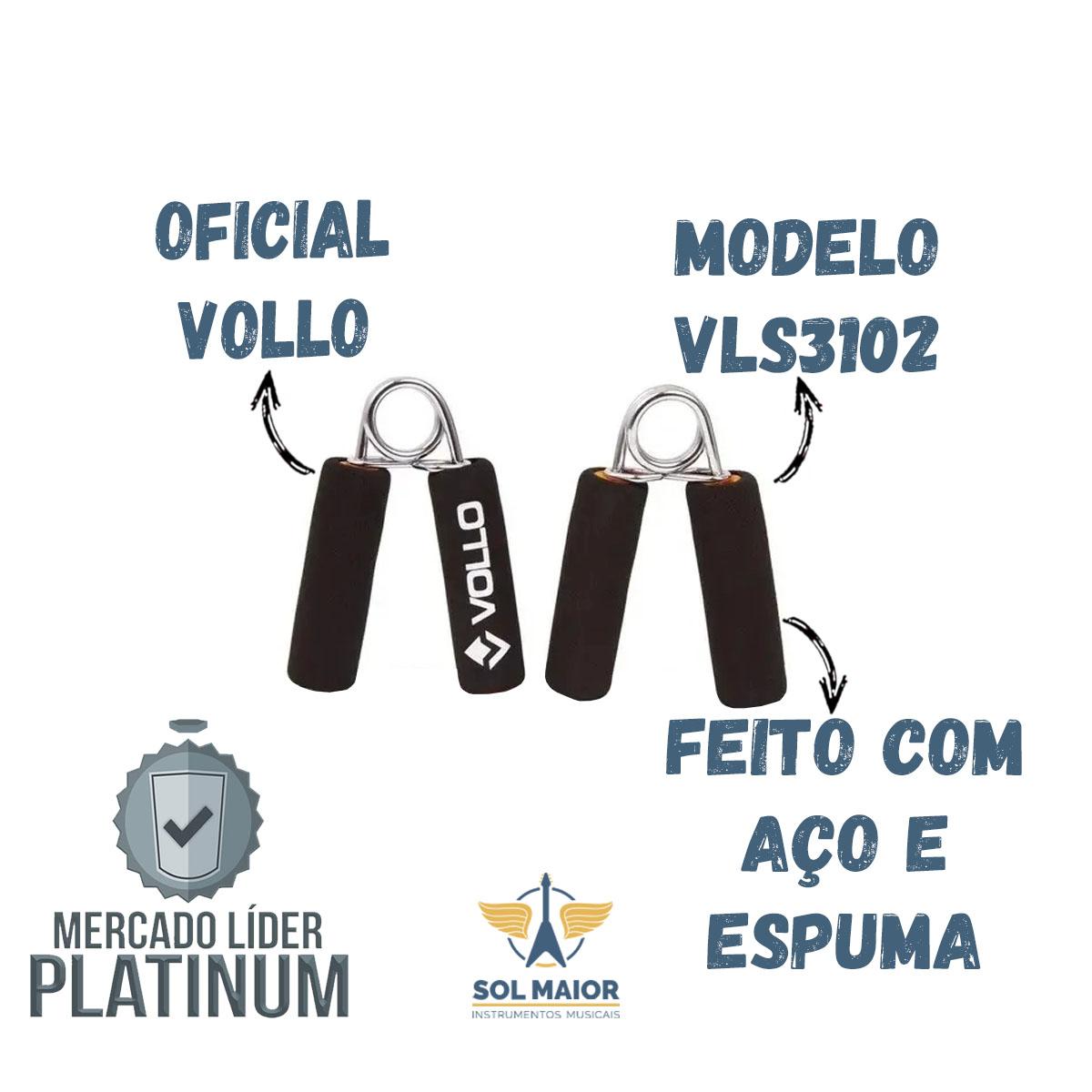 Hand Grip Com Cabo Em Espuma Aço 2 Unidades - Vollo Vls3102