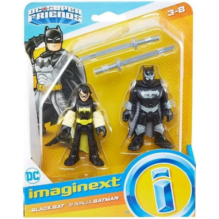 Imaginext DC Super Amigos Bonecos - Black Bat e Batman Ninja