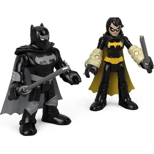 Imaginext DC Super Amigos Bonecos - Black Bat e Batman Ninja