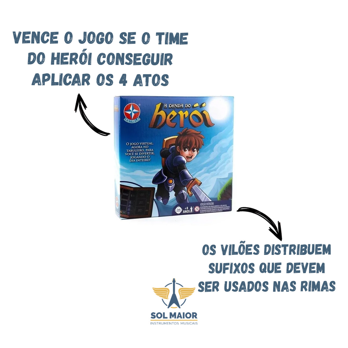 Jogo de Aventura A Lenda do Herói - Estrela