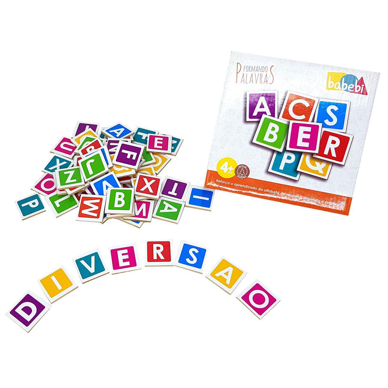 Jogo Formando Palavras Alfabeto 64 letras - Babebi 6020