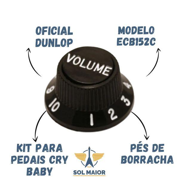 Kit 10 Knob Preto Volume Guitarra Stratocaster - DOLPHIN