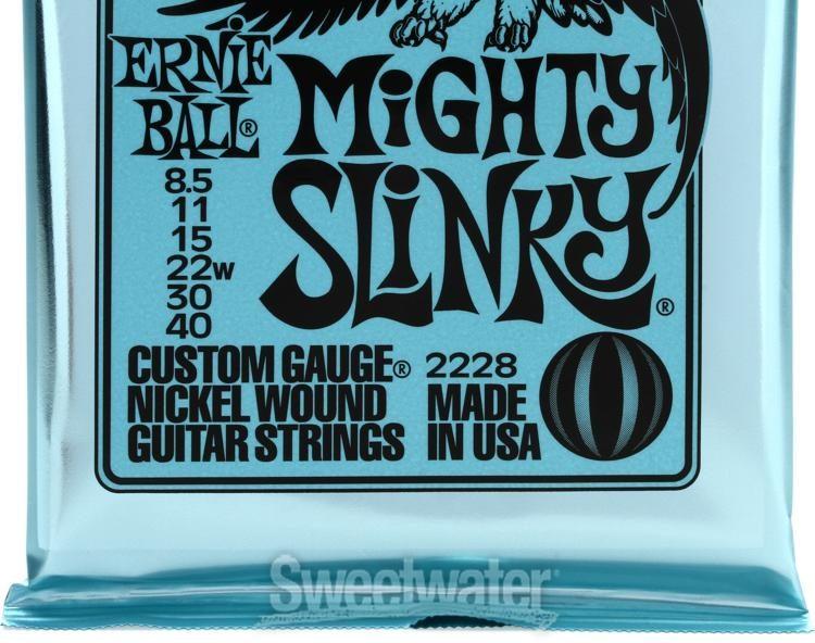 Kit 2 Encordoamentos Ernie Ball Guitarra 8.5-40 Mighty 2228