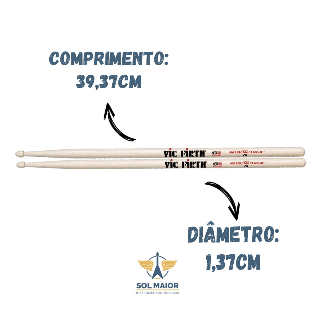 Kit 2 Pares Baqueta Vic Firth American Classic 7a Original