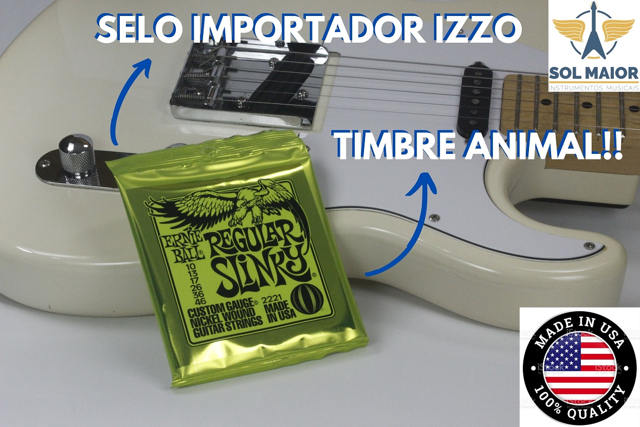 Kit 3 Encordoamentos Guitarra Ernie Ball 10 2221