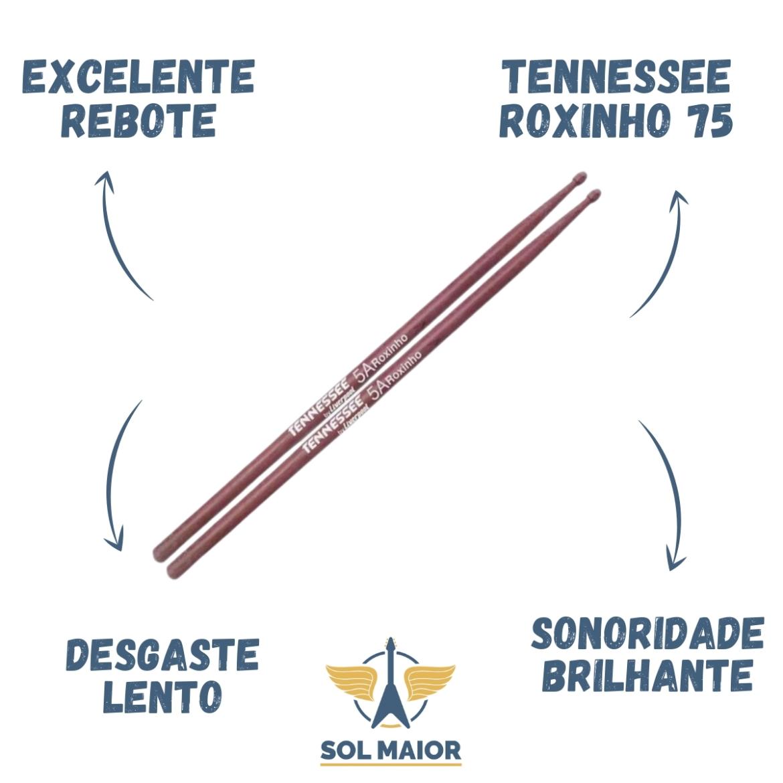 Kit 6 Pares De Baqueta Liverpool Tennessee Roxinho 5a