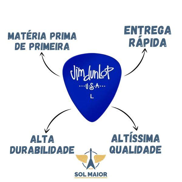 Kit 72 Palheta Gels Fina Azul Dunlop - 2157