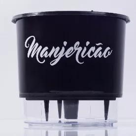 Kit 8 Vasos Autoirrigável Médio Linha Gourmet Raiz Cor Preto