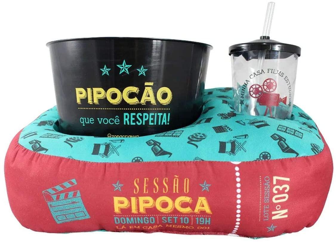 Kit Almofada Porta Pipoca Individual Sessão Pipoca - Zona Criativa