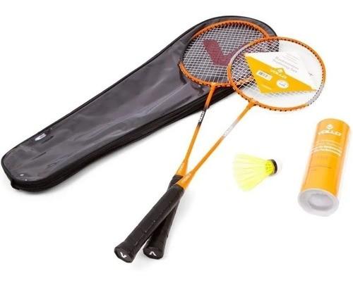 Kit Badminton 2 Raquetes E 3 Petecas Original - Vollo Vb002
