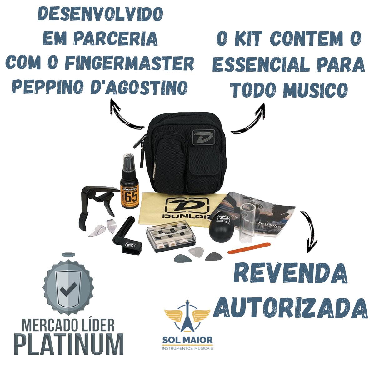 Kit Bolsa Acessorios Cordas E Maraca D Agostino Dunlop