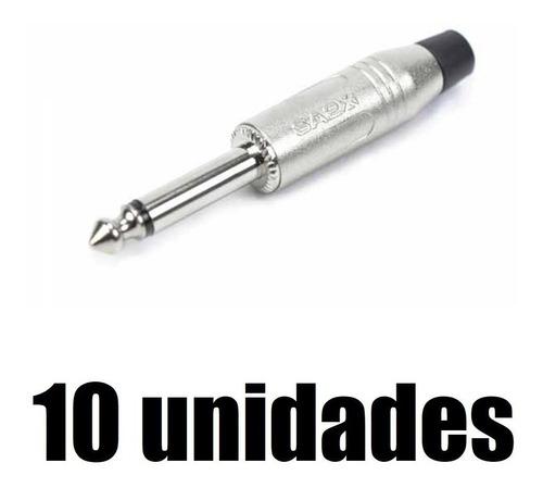 Kit com 10 conectores Santo Angelo P10 Mono Niquelado SA2X