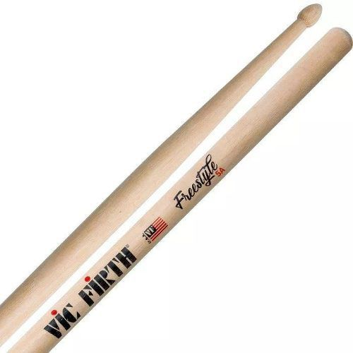 Kit com 2 Pares de Baqueta Vic Firth Freestyle 5A Extra Longa Concept