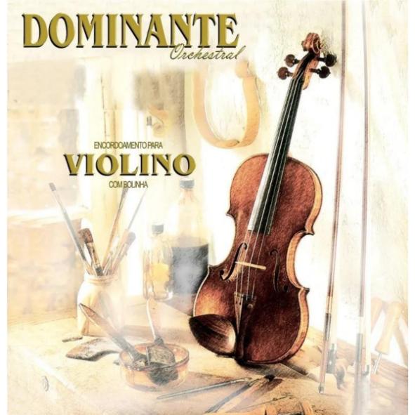 Kit com 3 Encordoamento Dominante Violino Orchestral 4/4 Jogo Completo