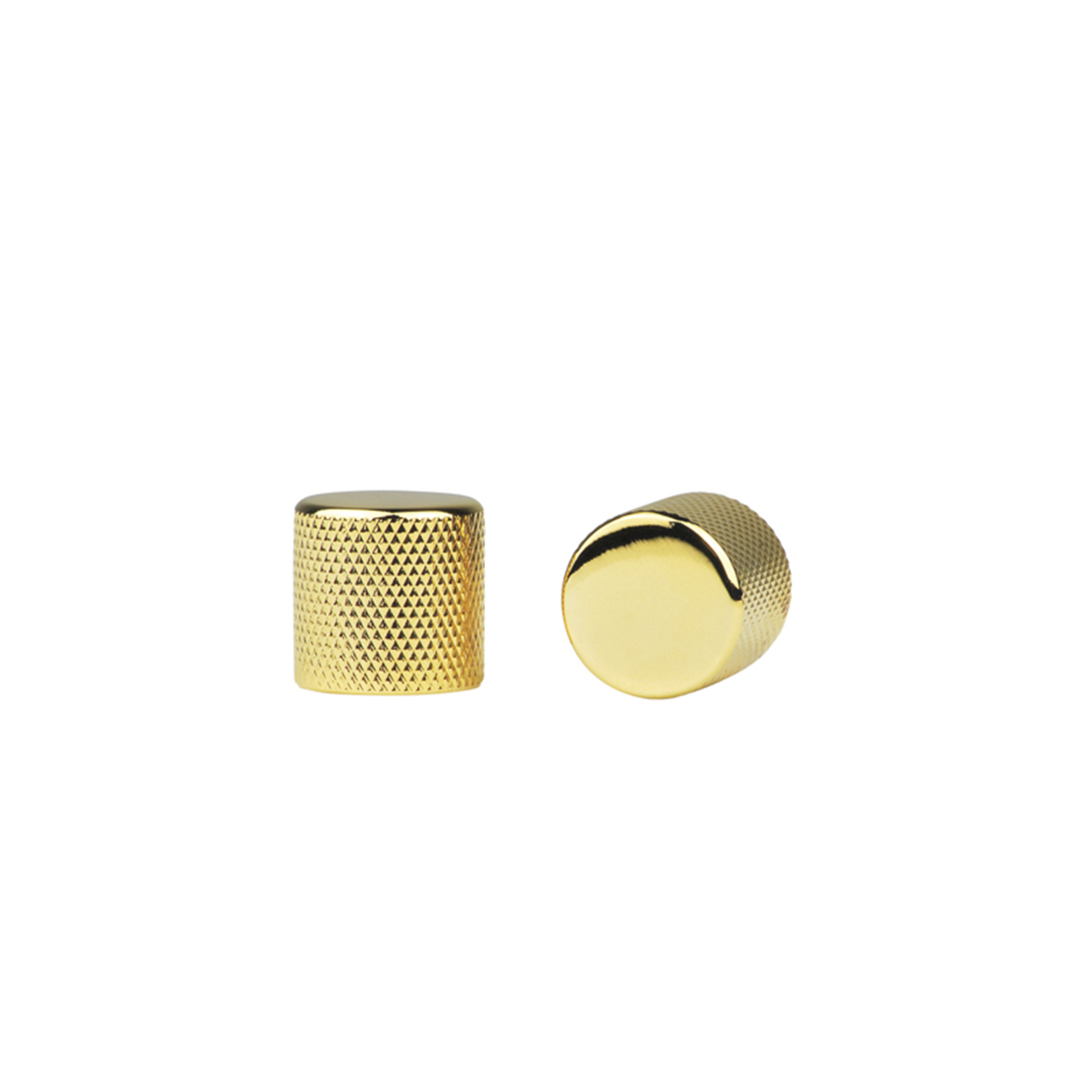 Kit com 4 Knob Metal Preto c/ Parafuso Allen Dourado DOLPHIN