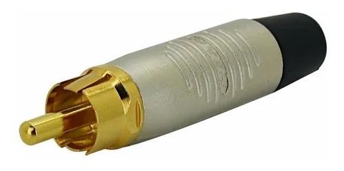 Kit com 5 Plug Neutrik Rean Rca Macho Linha Rf2c-au-2 Vermelho