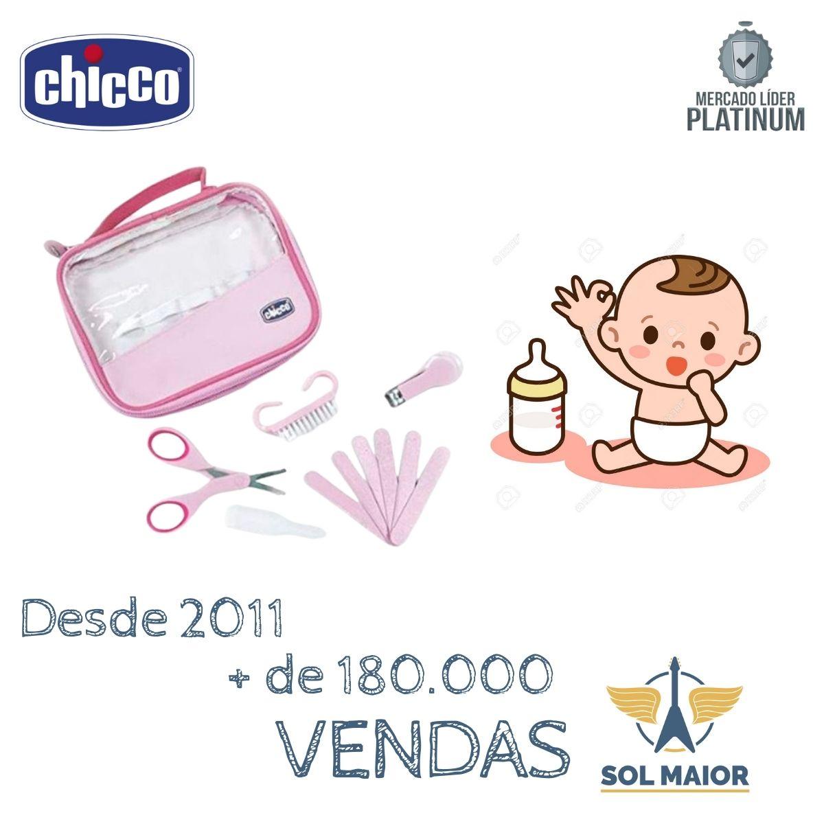 Kit Cuidados E Higiene Do Bebê Manicure Completa Chicco Rosa