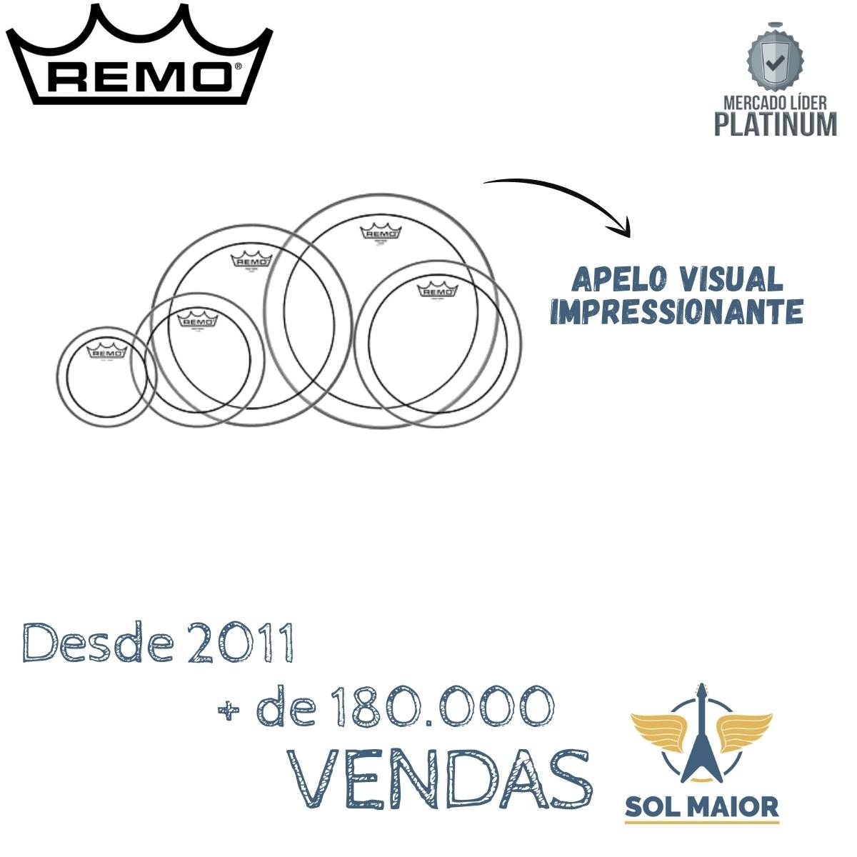 Kit de Peles Remo Marciais 6-8-10-12-13 Pinstripe PP-0120-PS