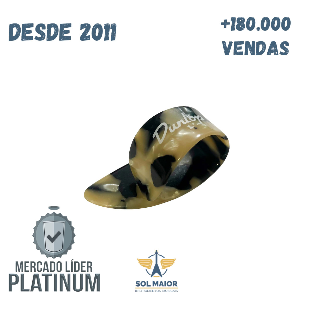 Kit Dedeira Dedal Calico Gd Pct C/02 Dunlop Viola