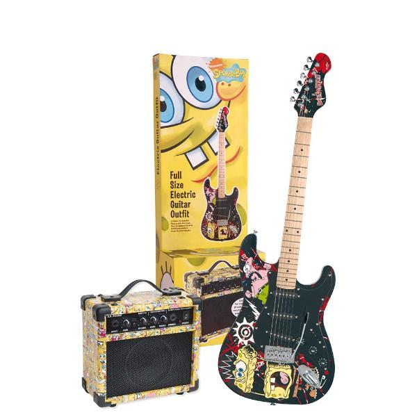 Kit Guitarra Infantil Full Size + Amplificador Bob Esponja