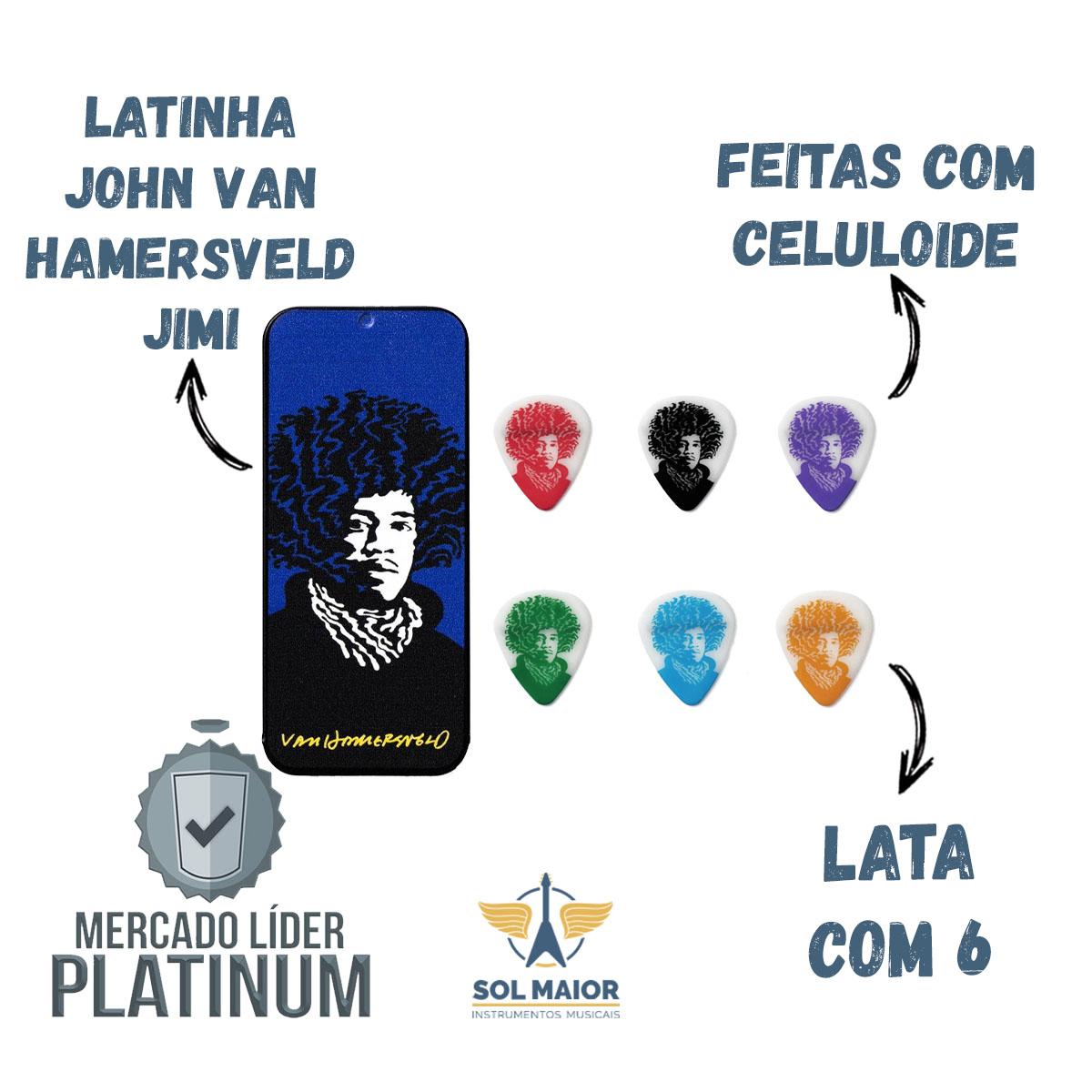 Latinha 6 Palhetas John Van Hamersveld Jimi Face Média